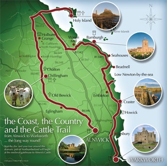 The Coast, the Country and the Cattle Trail - Map